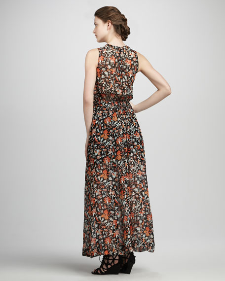 Lenli Floral-Print Maxi Dress