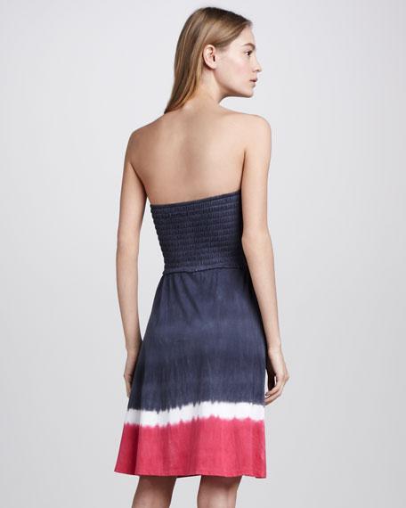 Saturn Dip-Dye Strapless Dress