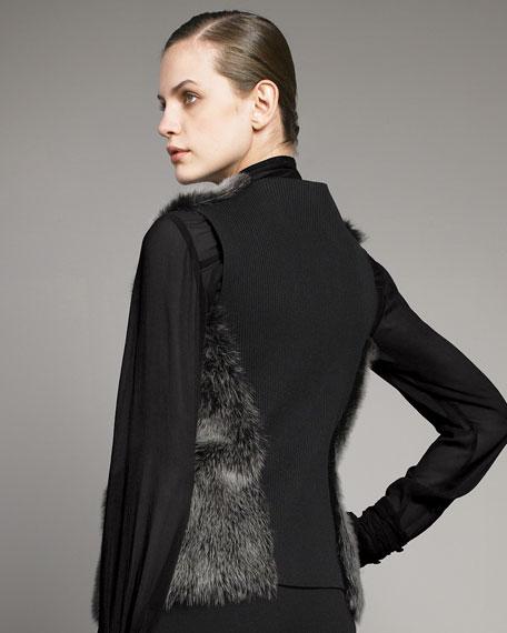 Shearling Belted Vest