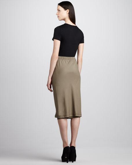 Layered Bias Skirt
