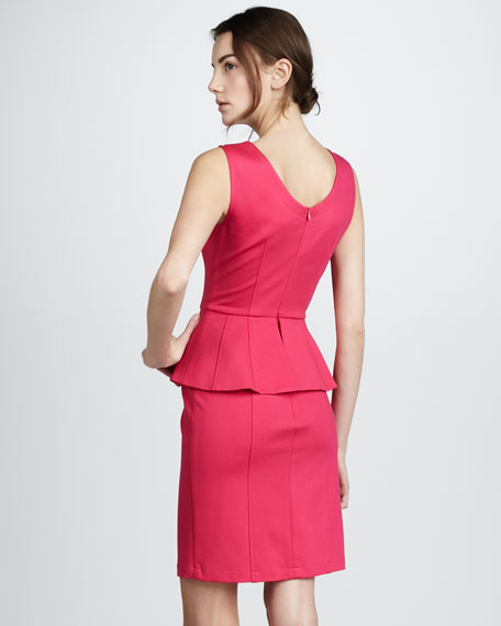 Sleeveless Peplum Dress, Punch
