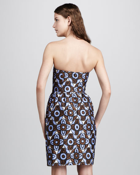 Mabry Printed Strapless Dress