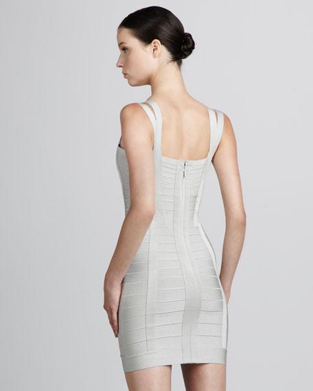 Double-Strap Bandage Dress