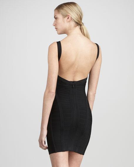 Sleeveless Surplice Dress
