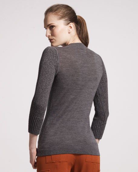 Rib-Sleeve Sweater