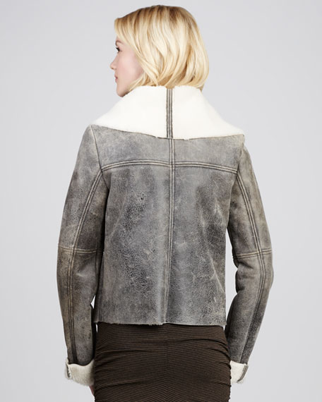 Lyn Shearling Motorcycle Jacket