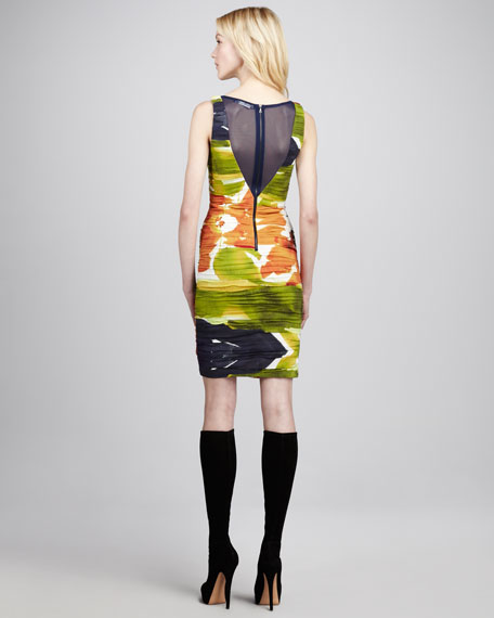 Valerie Printed Folded Dress