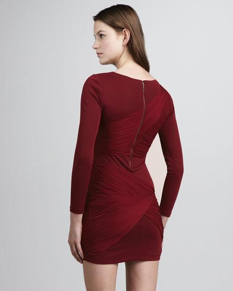 Cross-Panel Jersey Dress
