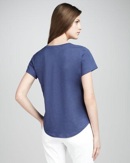 Short-Sleeve Shirttail Tee
