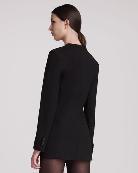 Open-Front Tuxedo Jacket