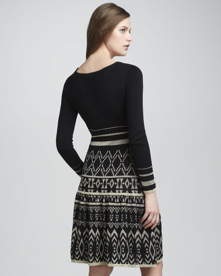 Lily Metallic-Knit Dress