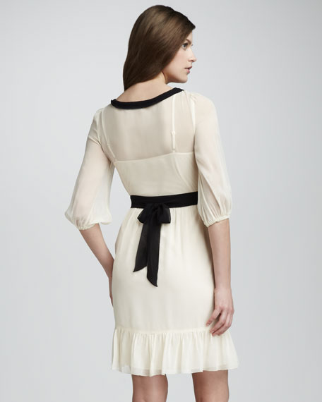 Meadow Contrast-Collar Dress