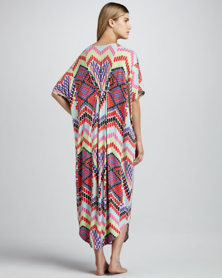 Long Braided Poncho Coverup