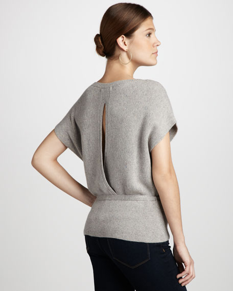 Slit-Back Sweater