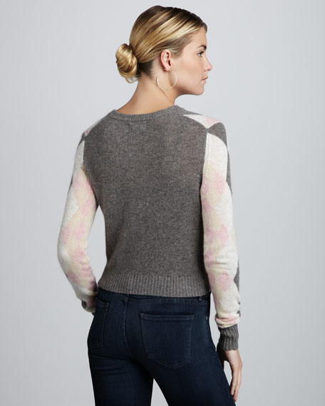 Kensington Argyle Cashmere Sweater