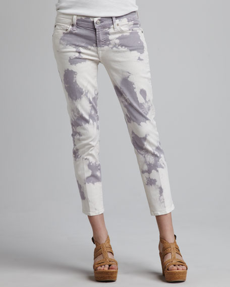 Roxanne Cloud Tie-Dye Cropped Jeans