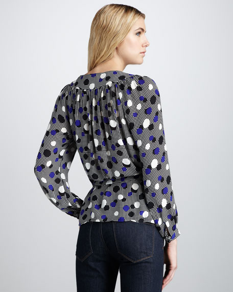 Marguerite Belted Silk Blouse