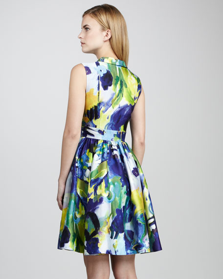 Carissa Sleeveless Print Dress