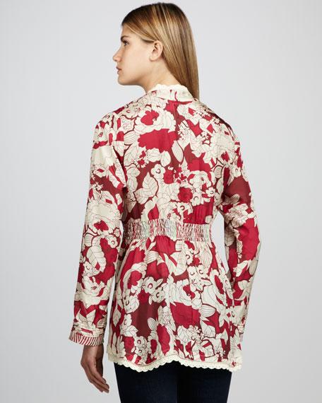 Printed Empire Tunic, Women's