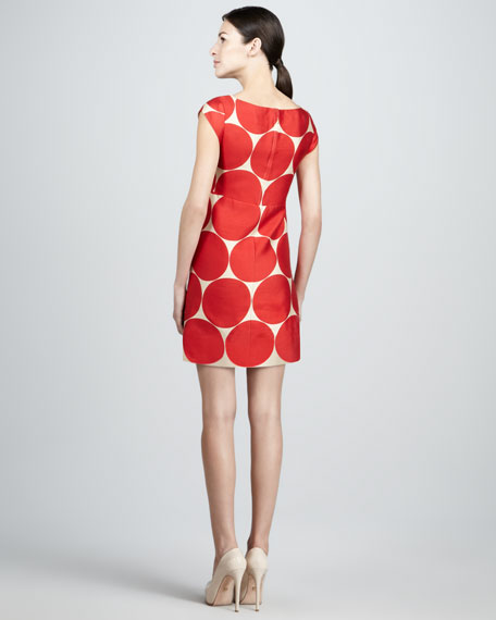 maya dot-print shift dress