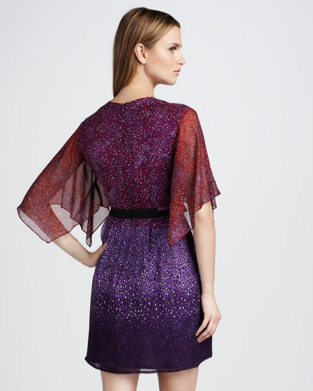 Bonfire Leopard-Print Kimono Dress
