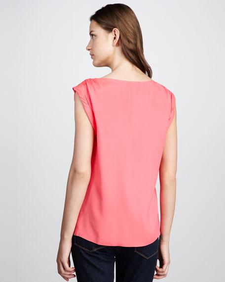 Gathered-Shoulder Top