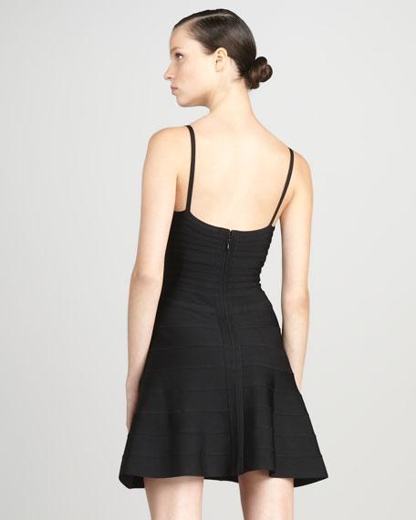 Plunge Spaghetti-Strap Dress