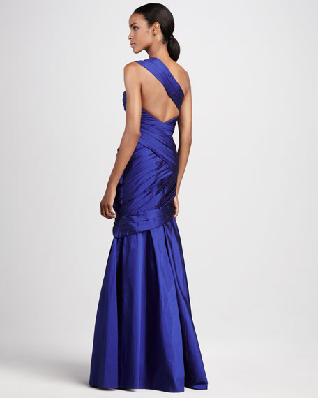 One-Shoulder Sweetheart Gown