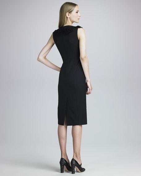 Macrame-Neck Dress