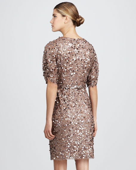 Beaded Wrap Dress