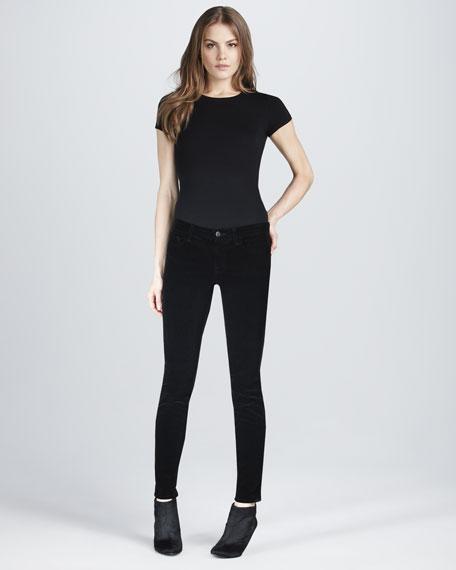 511 Mid-Rise Skinny Cords, Black
