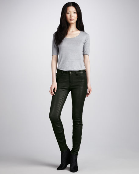 L8001 Forest Leather Super Skinny Pants