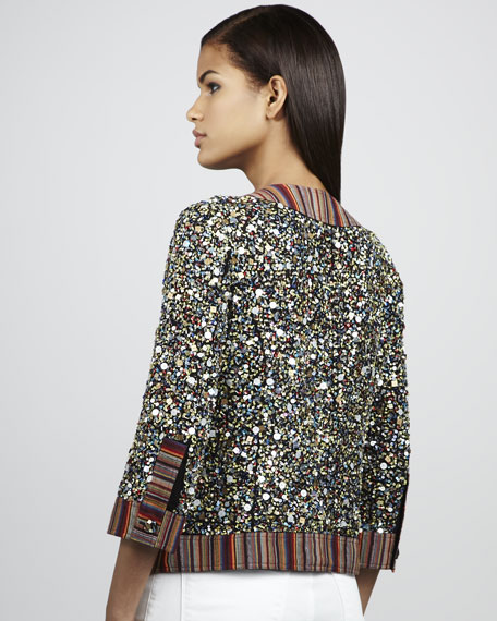 Divine Shine Sequined Cardigan, Petite