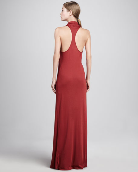 Cowl-Neck Racerback Maxi Dress