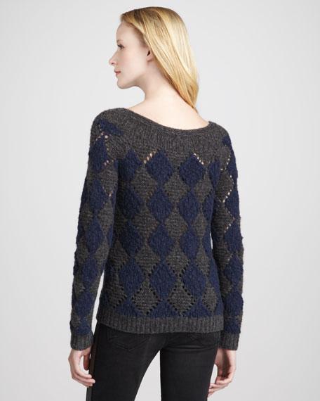 Tamara Diamond-Pattern Sweater