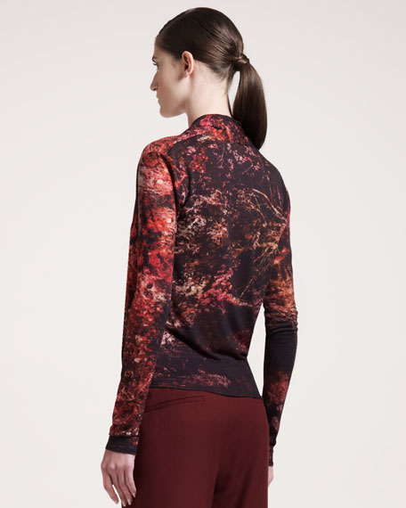 Midnight Floral-Print Top