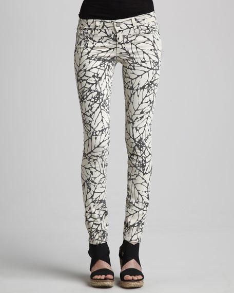 Skyline Leaf-Print Leggings