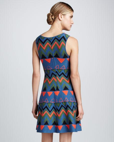 Geometric-Print Dress
