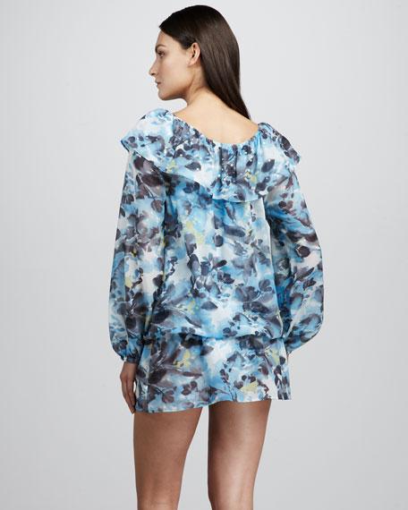 Belle Jardin Floral-Print Tunic Coverup