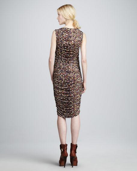 Balcony-Print Dress