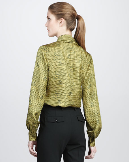 Eleanor Shawl-Collar Top, Scale