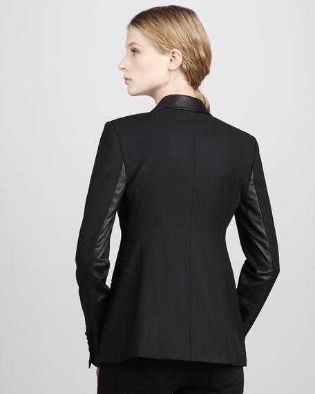 Rex Leather-Trimmed Blazer