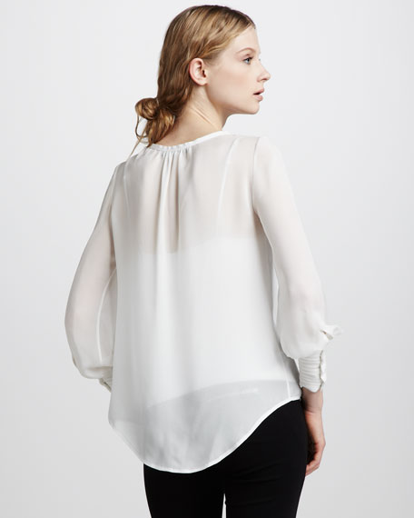 Pintucked Chantal Blouse