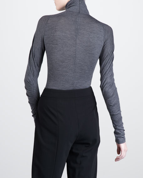 Melange Turtleneck, Slate