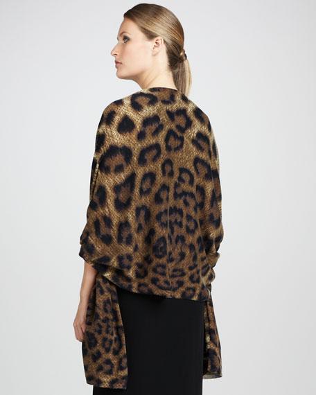 Leopard-Print Cashmere Shawl