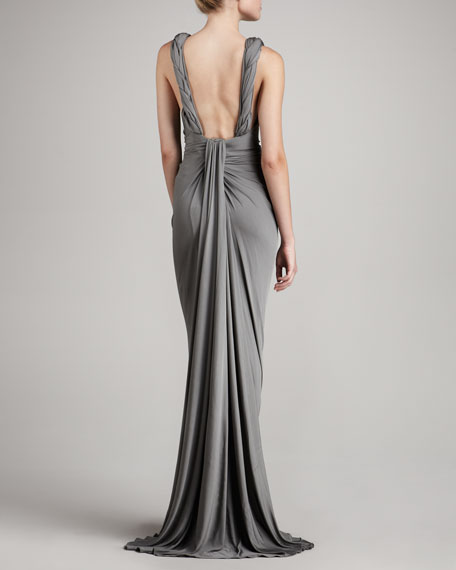 Braided-Front Gown