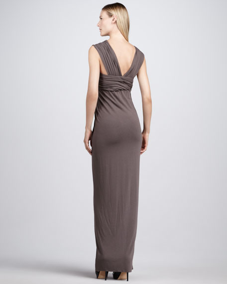 Knotted Jersey Maxi Dress