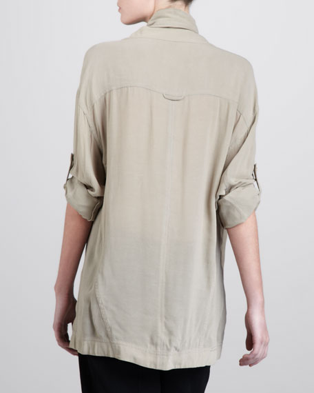 Draped-Neck Pullover