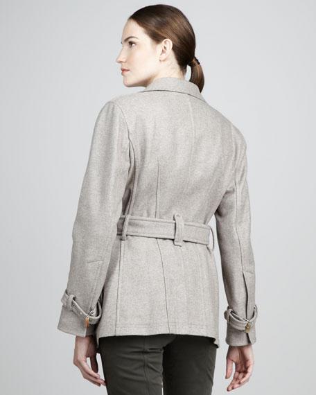 Self-Belted Wool Jacket