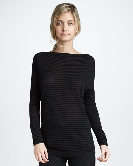 Striped Boat Neckline Sweater